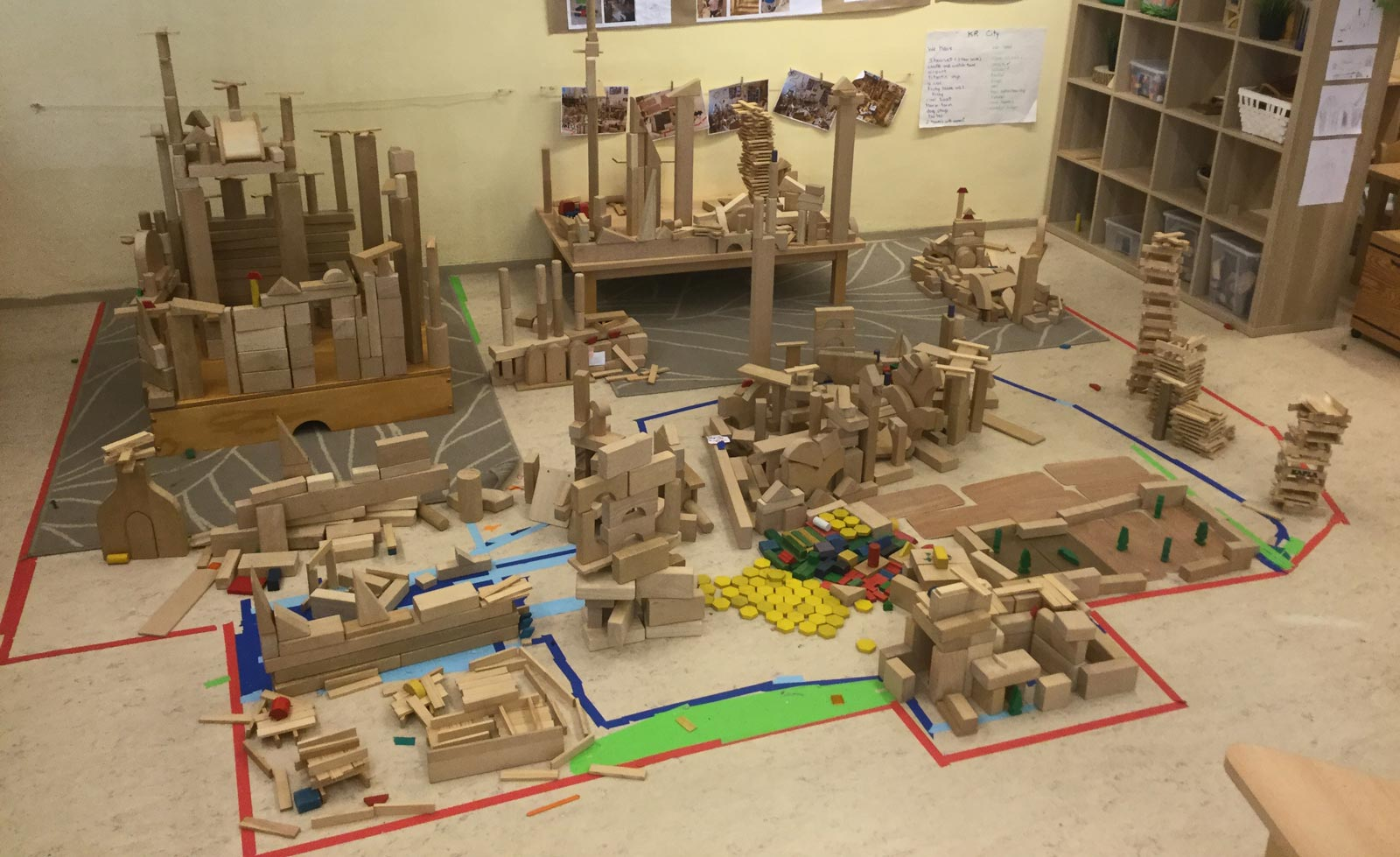 Blocks to Kindergarten City – Project Work